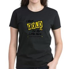 I Wear Gold For My Little Hero 8 Tee