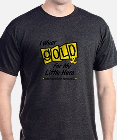 I Wear Gold For My Little Hero 8 T-Shirt