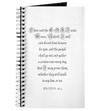 EXODUS 16:4 Journal