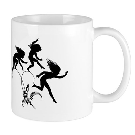 Fairyland Silhouette Coffee Mug by VintageArtGirl