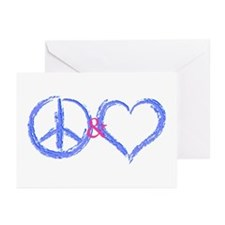 Peace & Love Greeting Cards (Pk of 10)