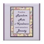 Random Acts Tile Coaster