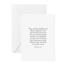 EXODUS  16:4 Greeting Cards (Pk of 10)