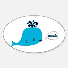 Woob Whale Oval Decal