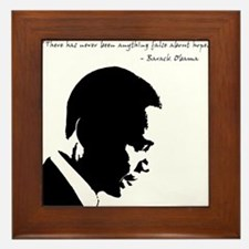 Obama - Hope Framed Tile