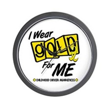 I Wear Gold For Me 8 Wall Clock