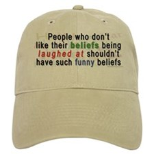 """Funny Beliefs"" Baseball Cap"