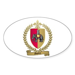 GUEDRY Acadian Crest Oval Decal