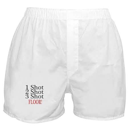 1 Shot 2 Shot 3 Shot Floor Boxer Shorts