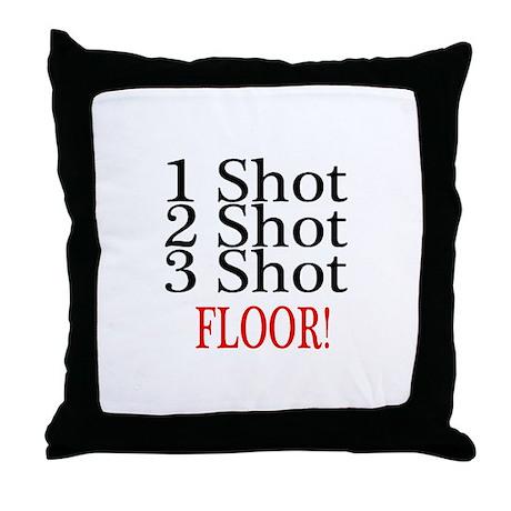 1 Shot 2 Shot 3 Shot Floor Throw Pillow