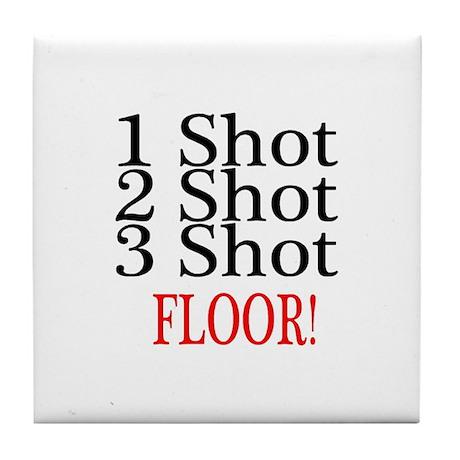 1 Shot 2 Shot 3 Shot Floor Tile Coaster