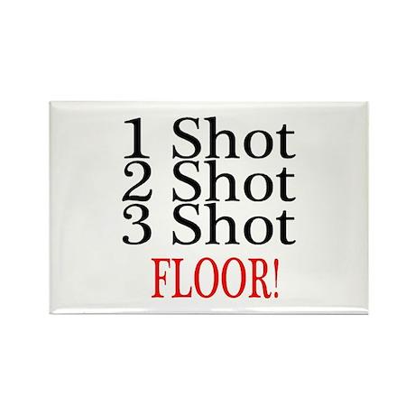 1 Shot 2 Shot 3 Shot Floor Rectangle Magnet (10 pa
