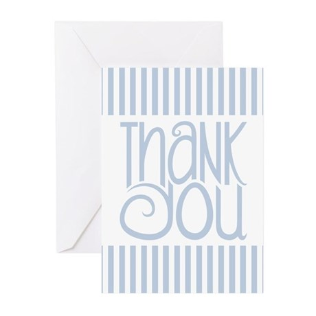 Thank You Black Striped Greeting Cards (Pk of 10)