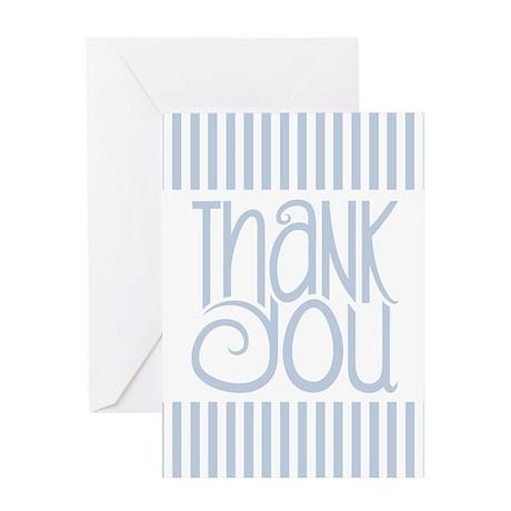 Thank You Black Striped Greeting Card