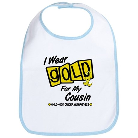 I Wear Gold For My Cousin 8 Bib