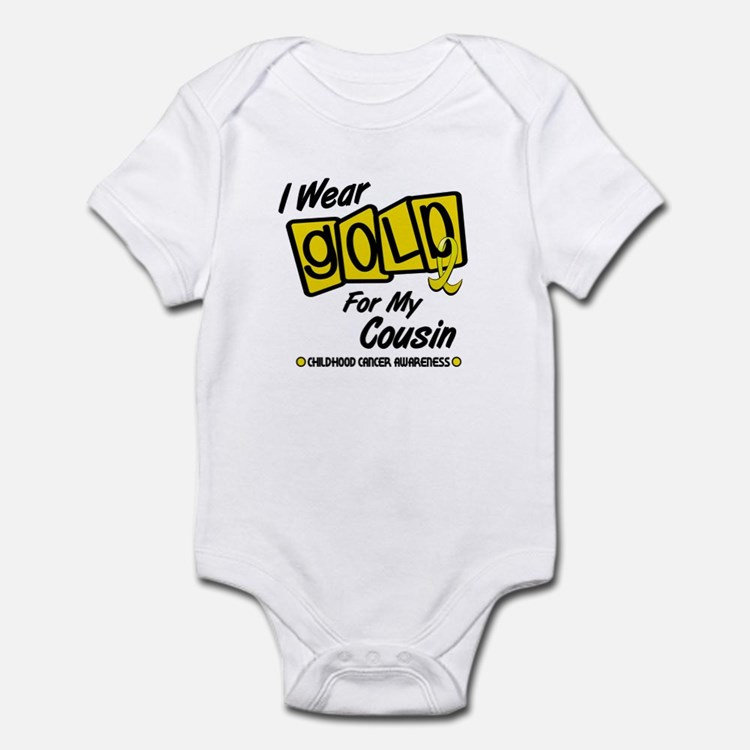 I Wear Gold For My Cousin 8 Infant Bodysuit