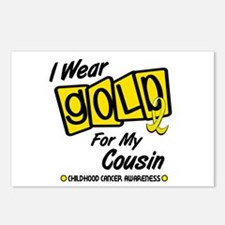 I Wear Gold For My Cousin 8 Postcards (Package of