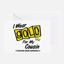 I Wear Gold For My Cousin 8 Greeting Card