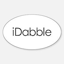 iDabble Oval Decal