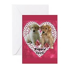 Golden Retriever Valentines Cards (Pk of 10)
