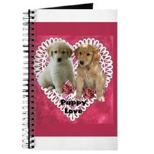 Golden Retriever Valentines Journal