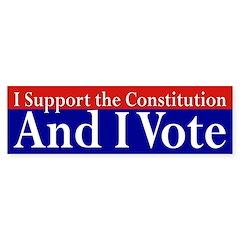 I Support the Constitution Bumper Bumper Sticker