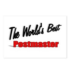 """The World's Best Postmaster"" Postcards (Package o"
