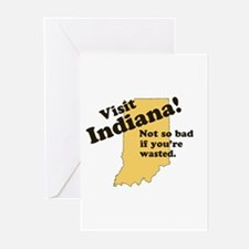 Visit Indiana, Not So Bad If Greeting Cards (Pk of