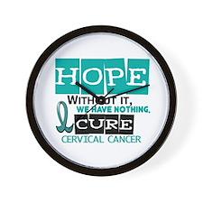 HOPE Cervical Cancer 2 Wall Clock