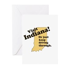Visit Indiana, Or Just Keep D Greeting Cards (Pk o