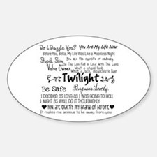 Twilight Quotes Oval Decal