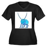 Betty the Beetle Women's Plus Size V-Neck Dark T-S