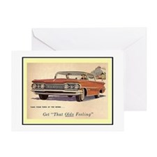 """1959 Olds Ad"" Greeting Card"