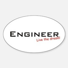 Engineer / Dream! Oval Bumper Stickers