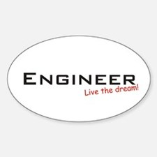 Engineer / Dream! Oval Decal
