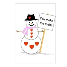 Snowman - Valentine Postcards (Package of 8)