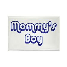 Mommy's Boy Rectangle Magnet