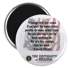 """Obama """"Change"""" Quote 2.25"""" Magnet ("""