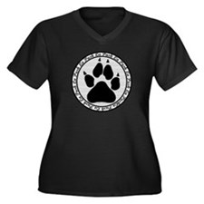 La Push Women's Plus Size V-Neck Dark T-Shirt