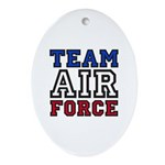 Team Air Force Oval Ornament