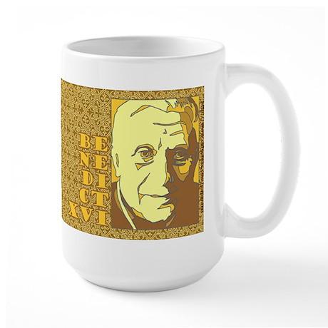 New Pope Benedict XVI Ratzinger Yellow Large Mug