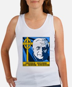 Papa Ratzi Stained Glass Christmas Women's Tank To