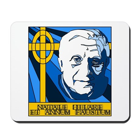 Papa Ratzi Stained Glass Christmas Mousepad