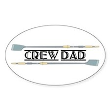Crew Dad Oval Decal