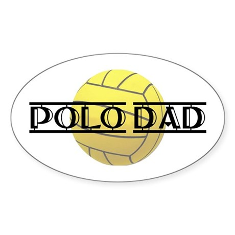 Polo Dad Oval Sticker