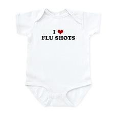 I Love FLU SHOTS Infant Bodysuit