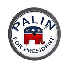 Palin for President Wall Clock
