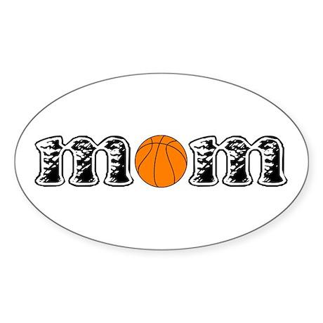 Basketball Mom Oval Sticker