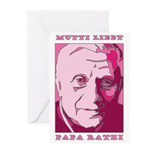Mutti Liebt Papa Ratzi Mother Greeting Cards (Pack