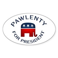 Pawlenty for President Oval Decal